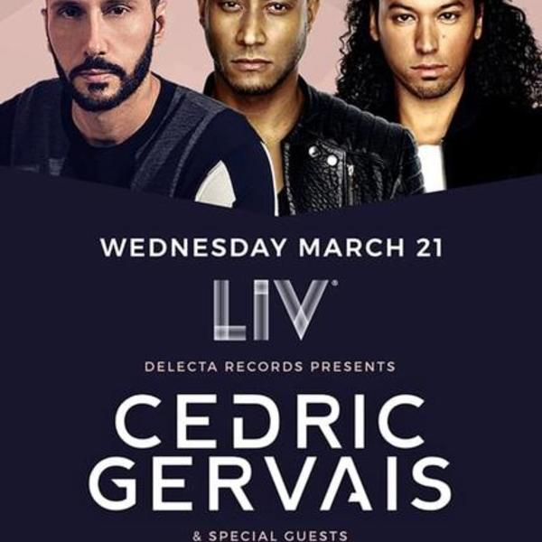 Cedric Gervais, Sunnery James & Ryan Marciano at LIV Image