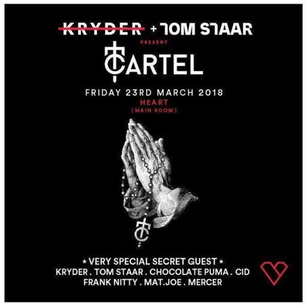 Kryder + Tom Staar present CARTEL (Main Room) Image