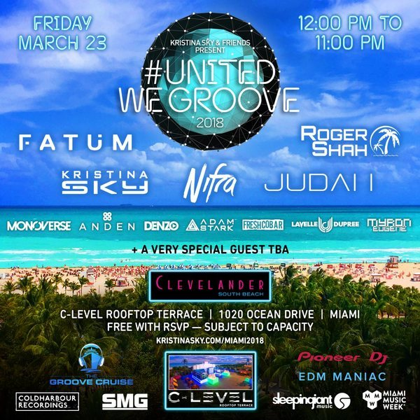 Kristina Sky & Friends present United We Groove 2018 Image