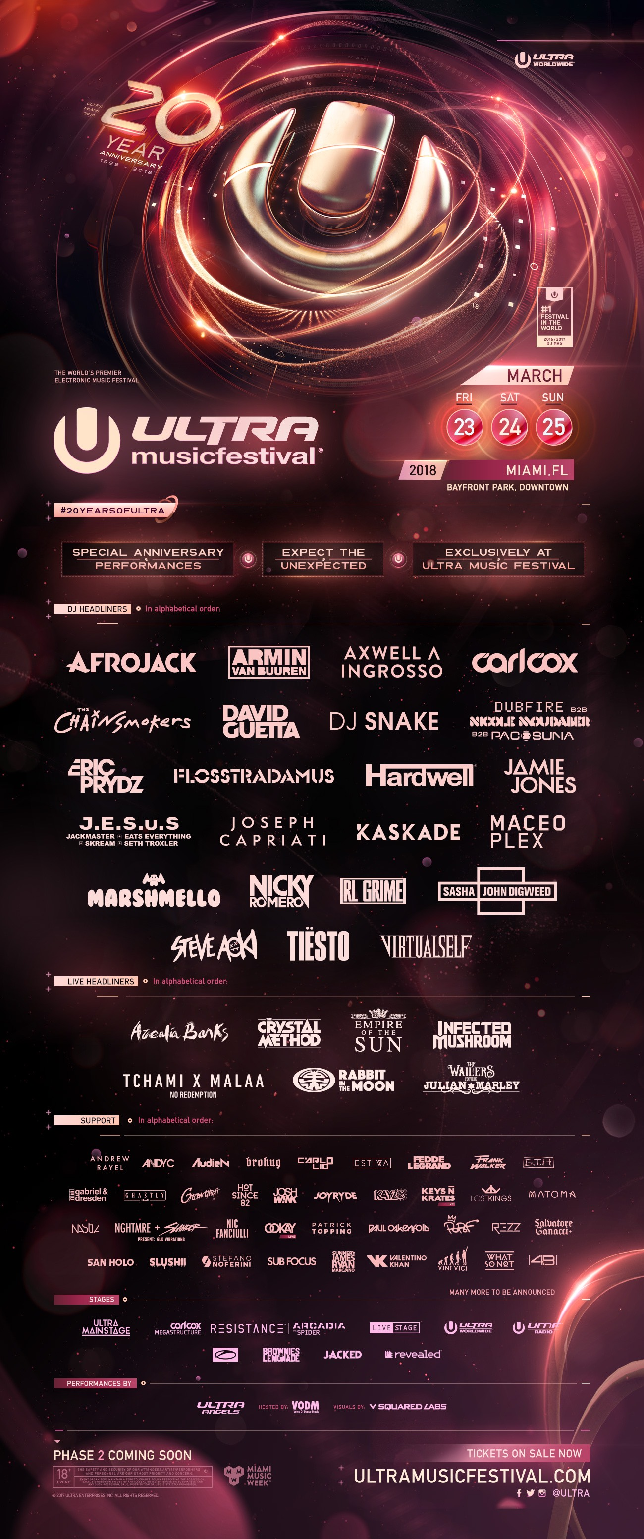 Ultra Music Festival - 20 Year Anniversary Image