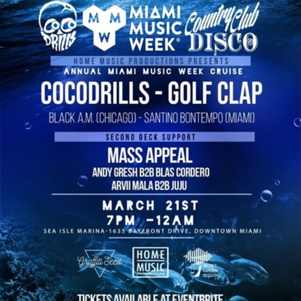 COCODRILLS & GOLF CLAP - Annual MMW Yacht Party Image