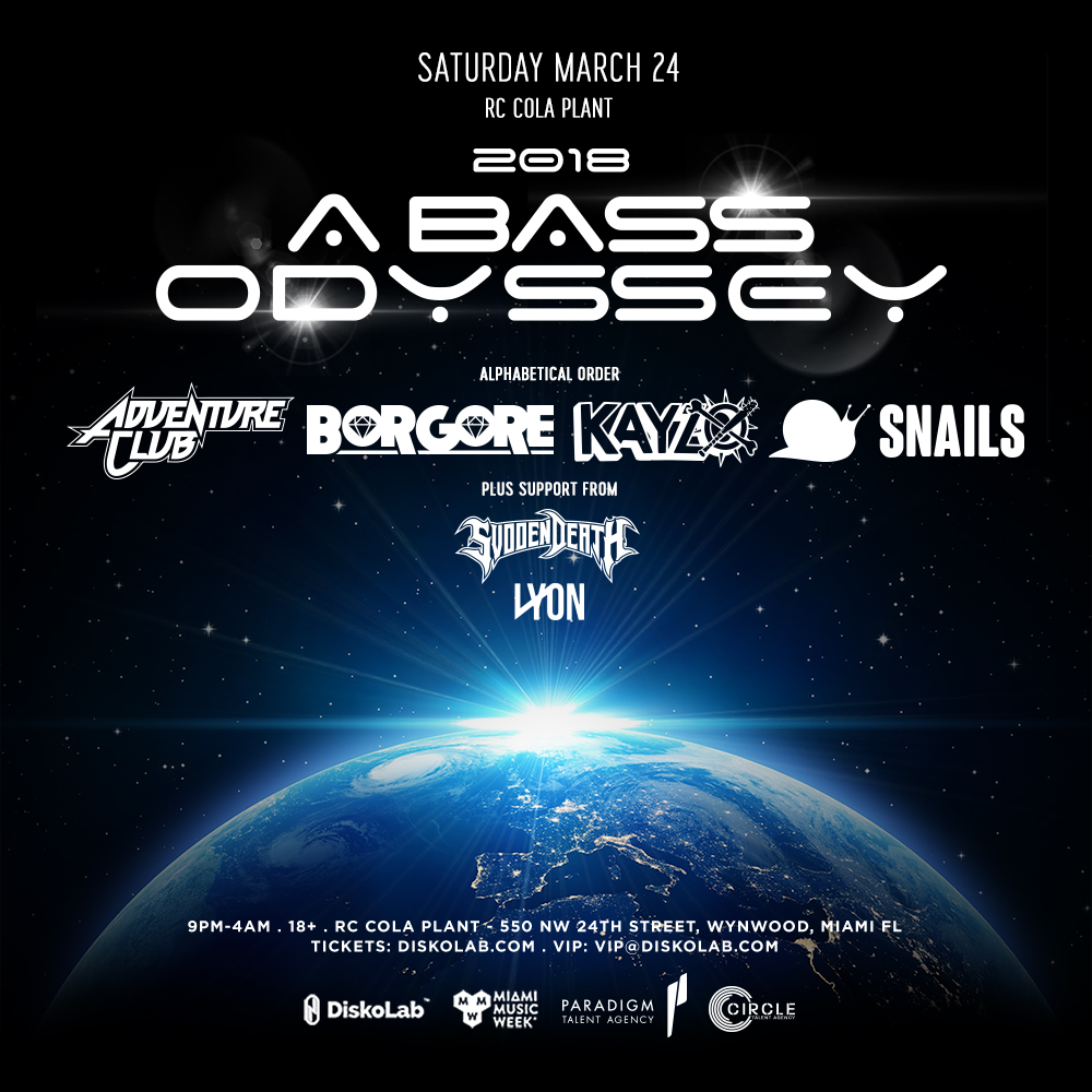 2018: A Bass Odyssey | Adventure Club, Borgore, Kayzo, Snails Image