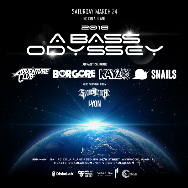 2018: A Bass Odyssey | Adventure Club, Borgore, Kayzo, Snails Image