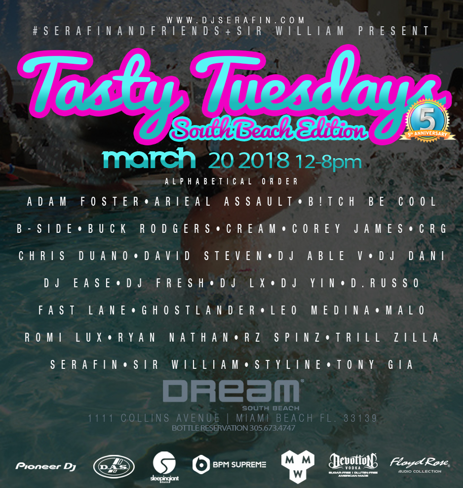 Serafin & Friends + Sir William present Tasty Tuesdays Image