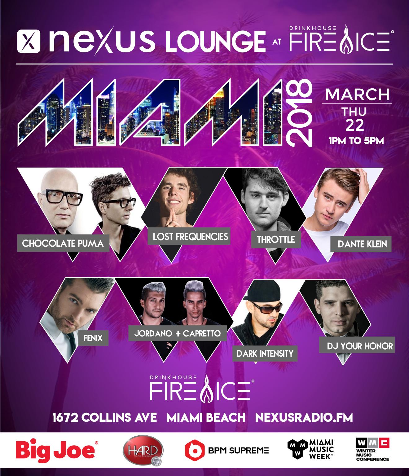 Nexus Radio Lounge 2018 - Day 1 | Miami Music Week