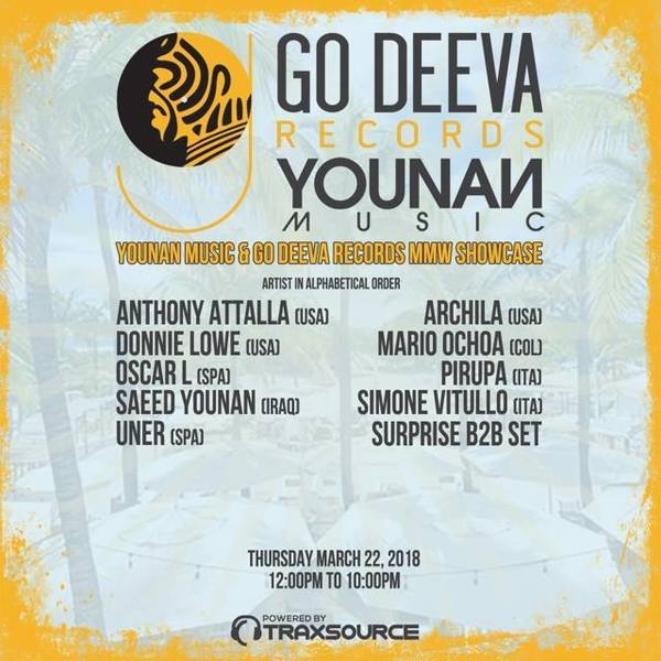 Music Beach House presents Go Deeva and Younan Music Showcase Image
