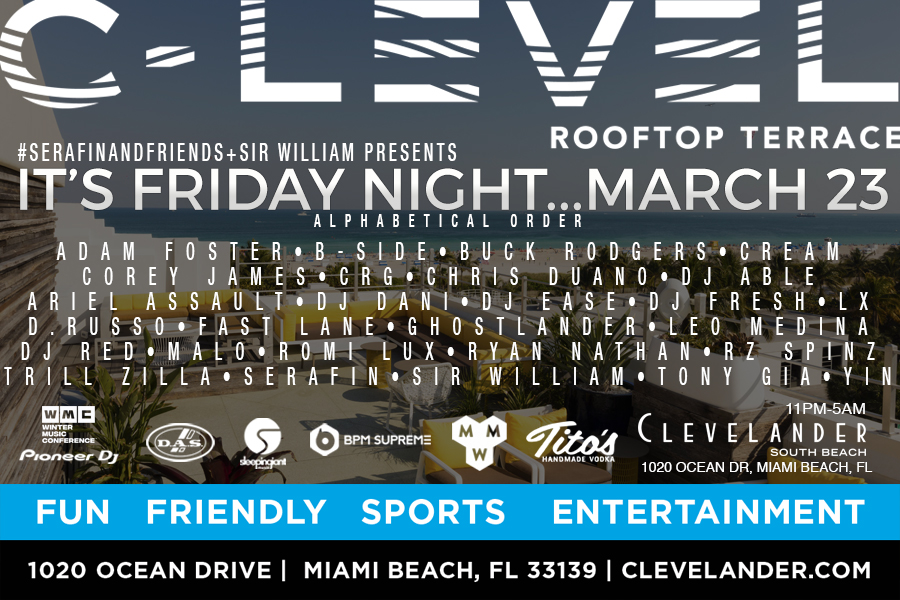 """Serafin & Friends + Sir William pres. """"It's Friday Night - Rooftop Party"""" Image"""