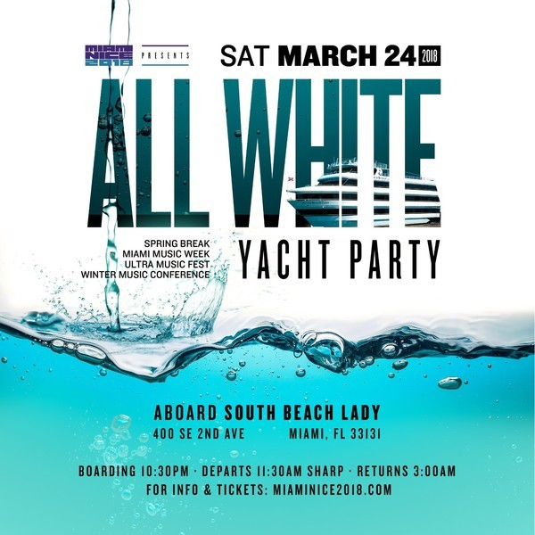 Miami Nice All White Yacht Party Image