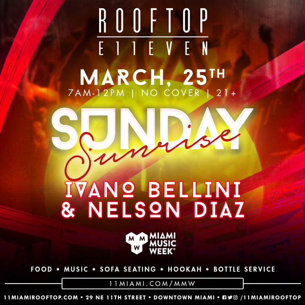 Ivano Bellini & Nelson Diaz At ROOFTOP at E11EVEN Image