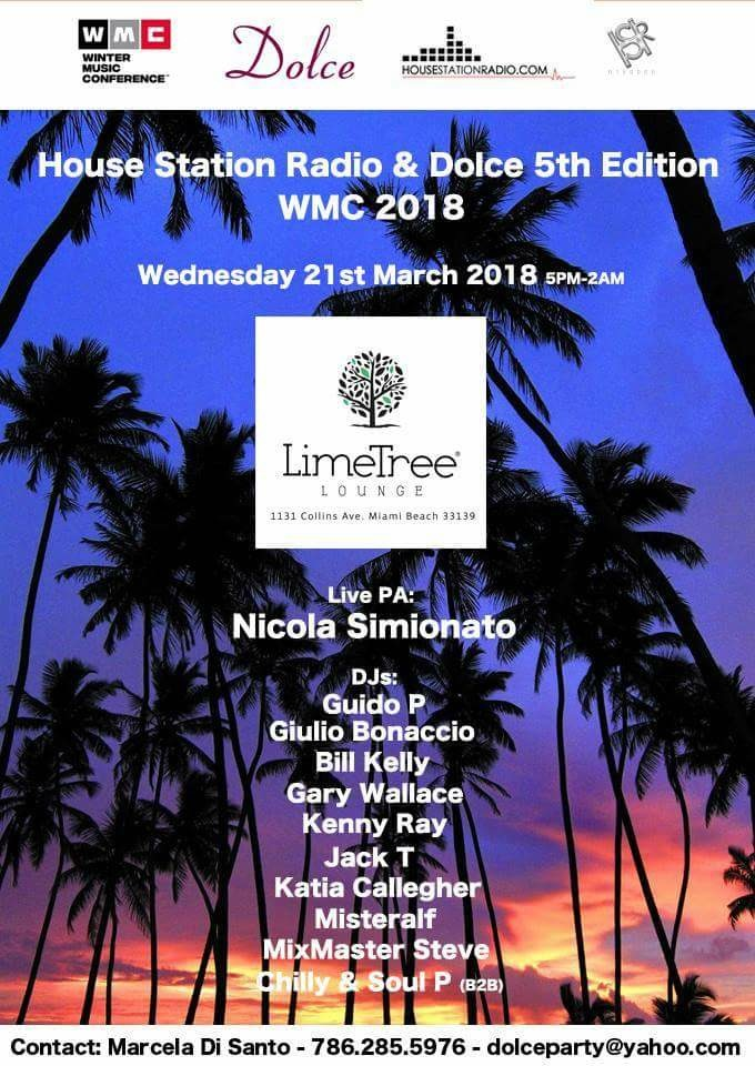 House Station Radio & Dolce 5th Edition WMC 18 | Miami Music Week