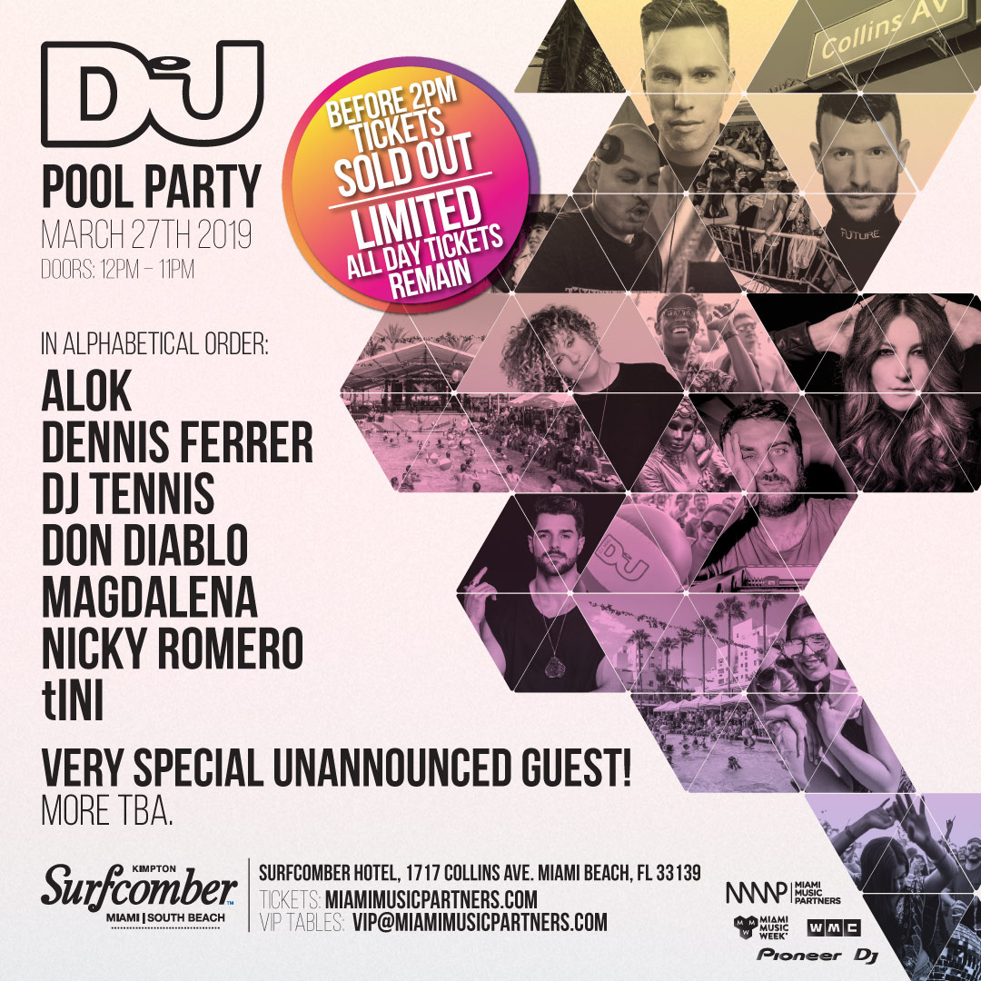 DJ MAG Pool Party Flyer