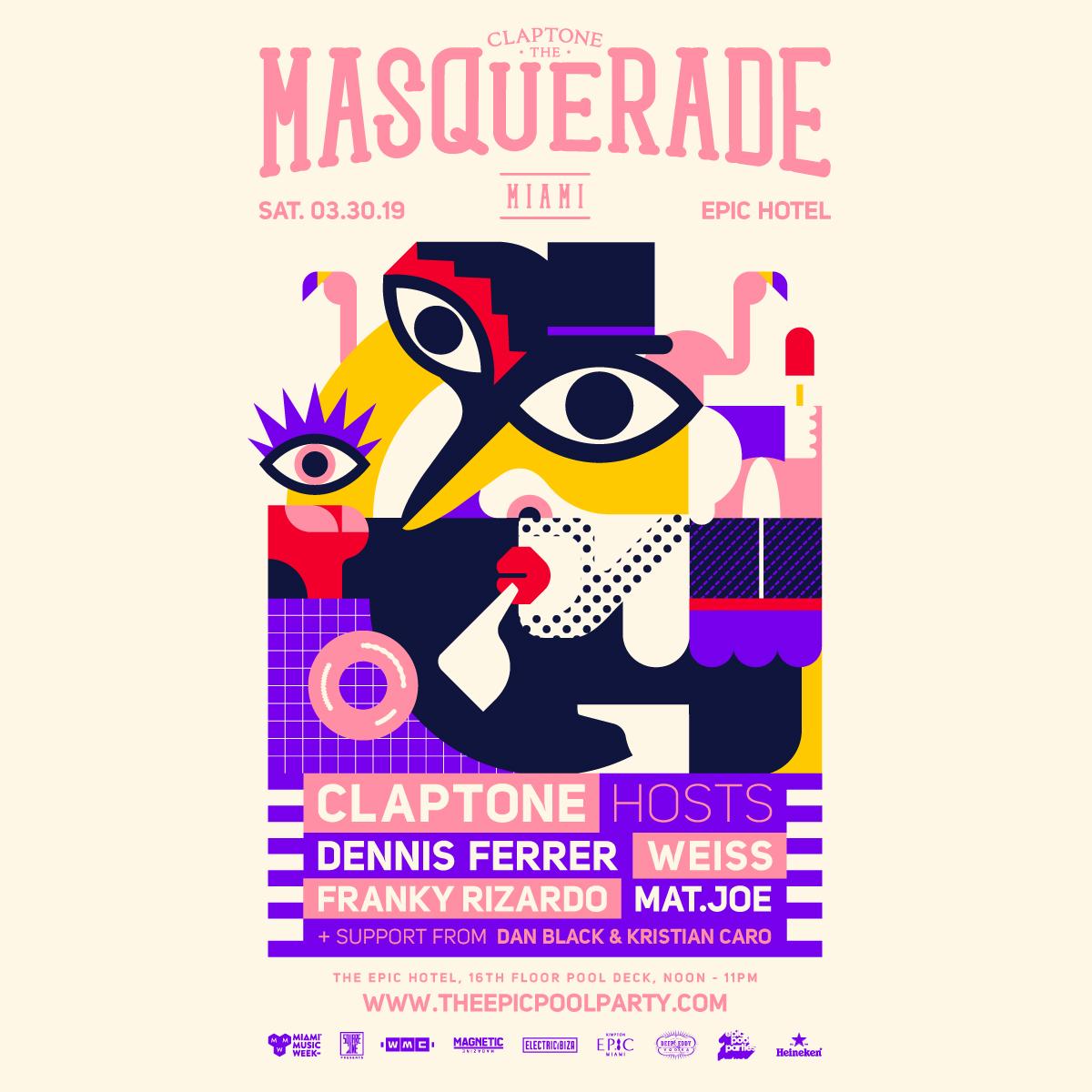 Masquerade Miami w/ Claptone WMC 2019 x Epic Pool Parties Image