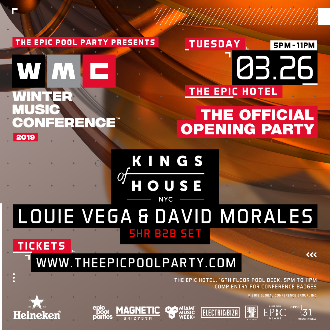 WMC Opening Party 2019 w/ Louie Vega & David Morales Flyer