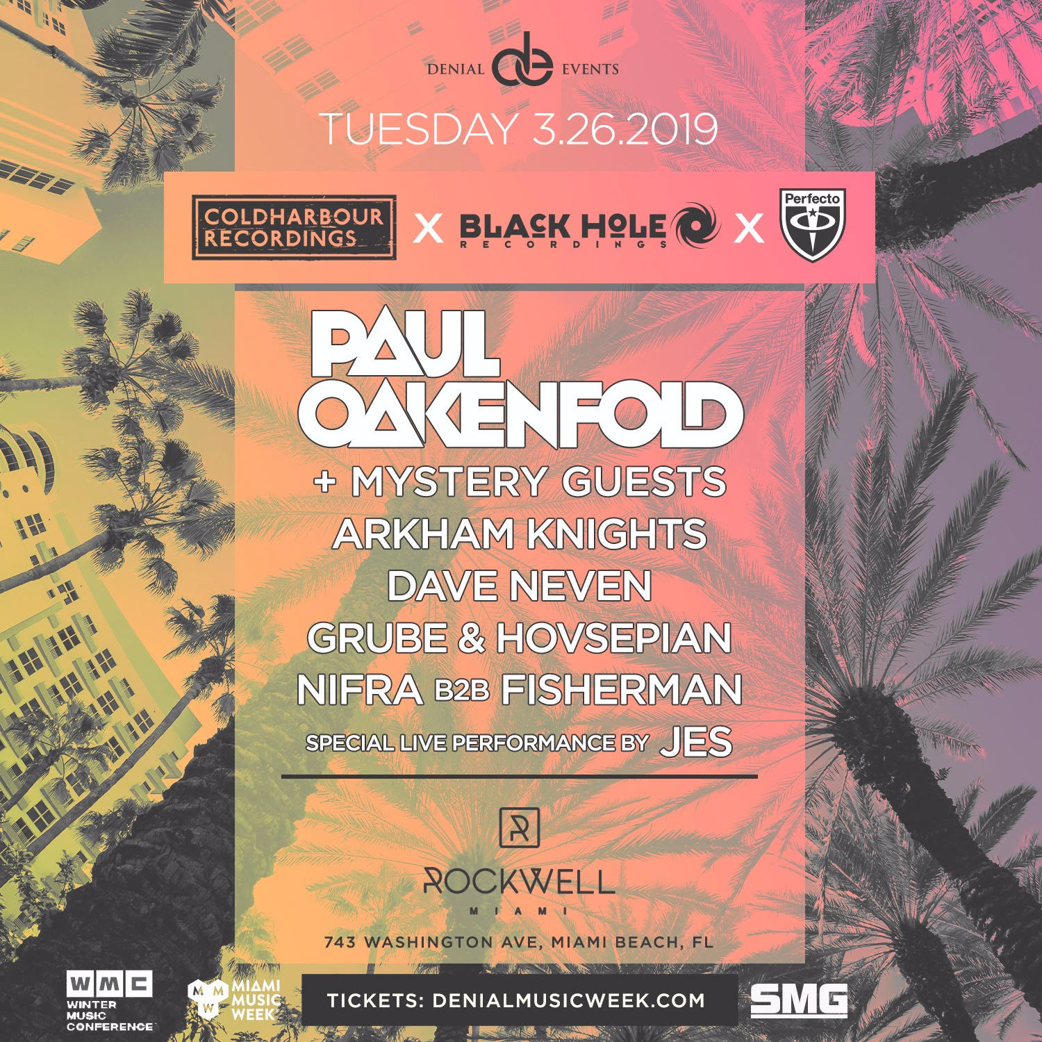 Coldharbour Recordings x Black Hole Recordings Showcase Flyer