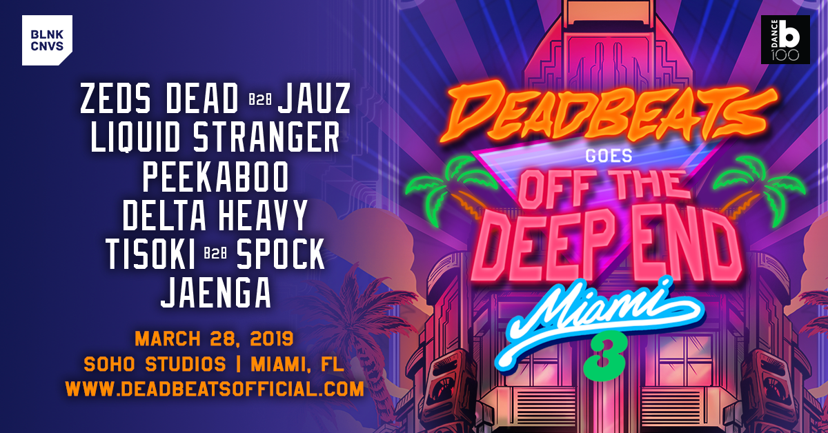Deadbeats Goes off the Deep End Miami III Flyer