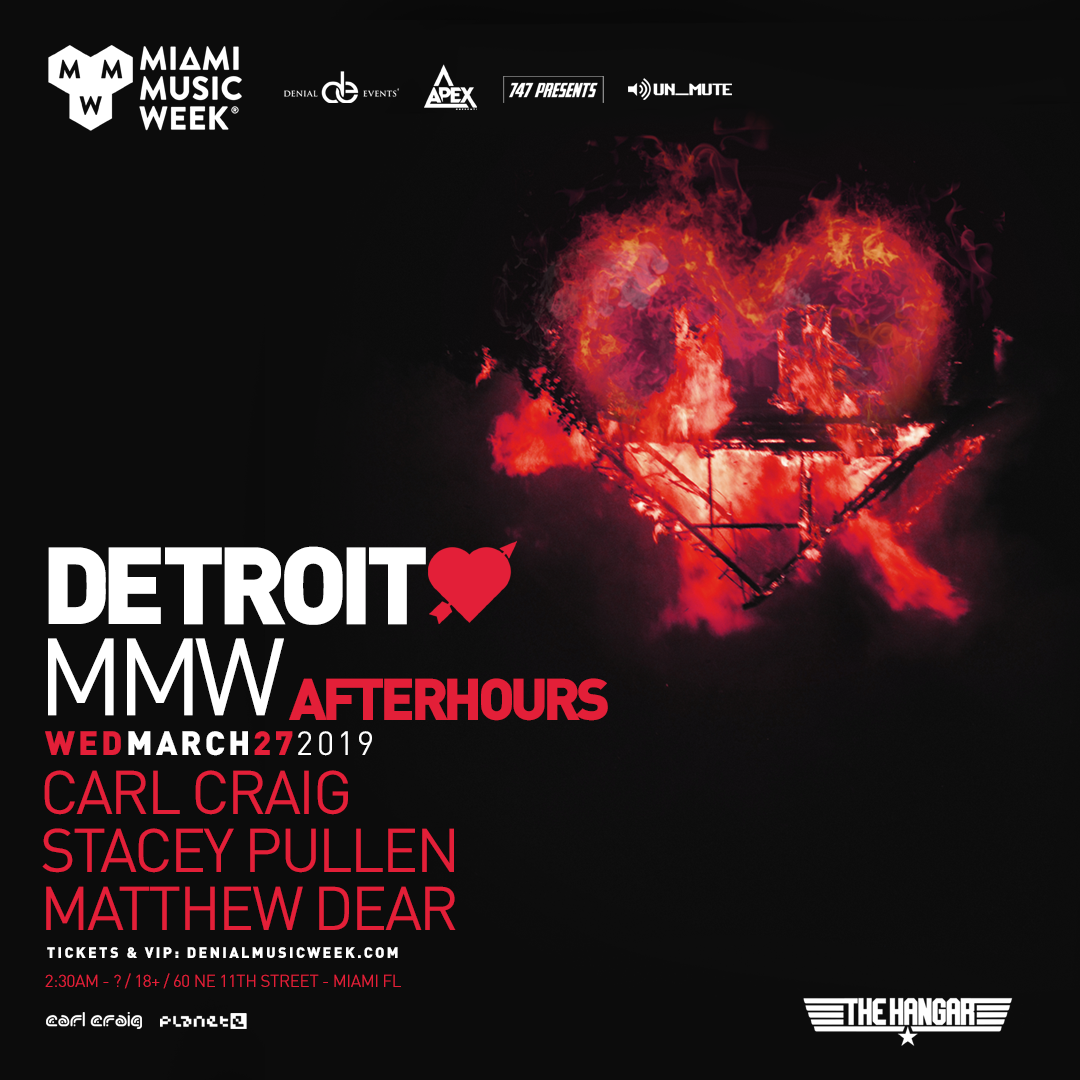 Detroit Love feat Carl Craig, Stacey Pullen, and Matthew Dear (AFTERHOURS) Flyer