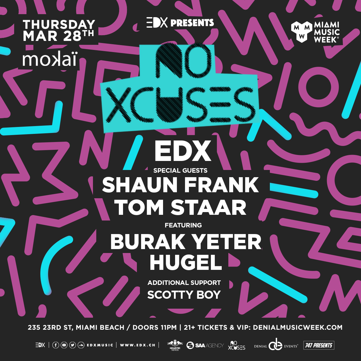 EDX presents No Xcuses Flyer