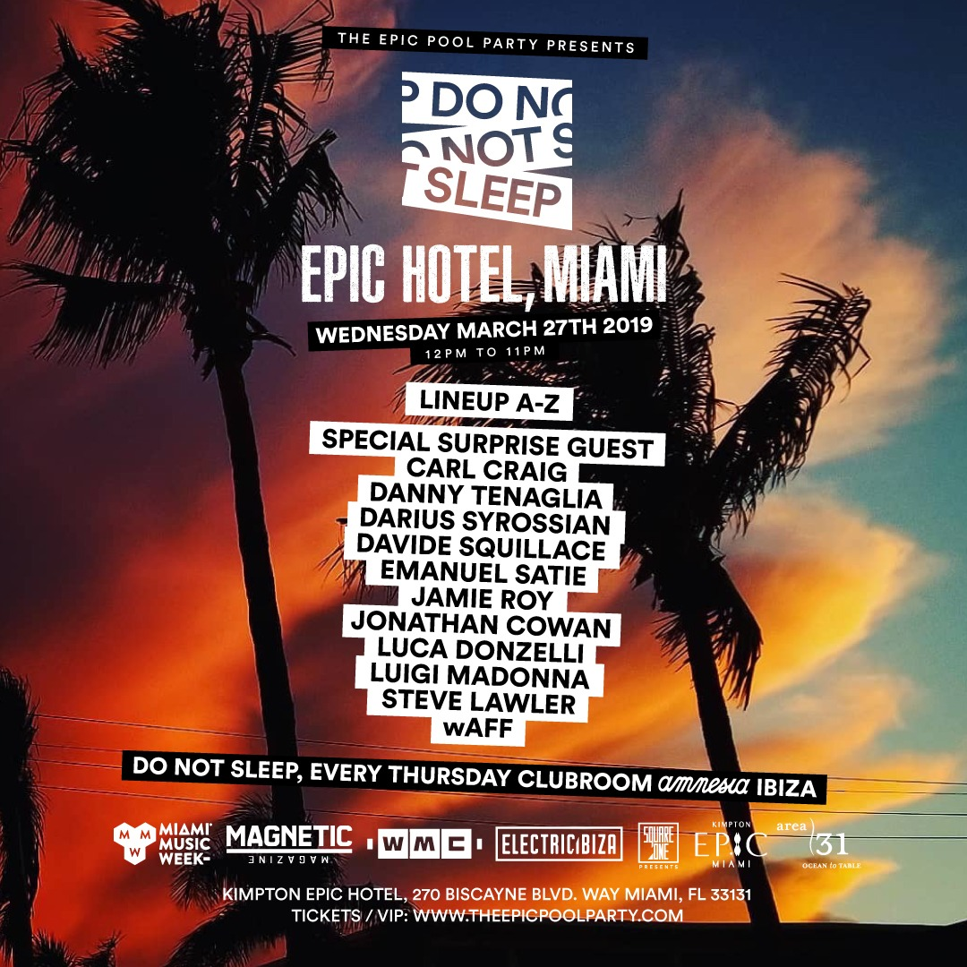 Do Not Sleep Pool Party Flyer