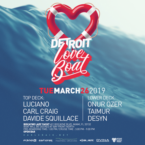 Detroit Love Boat with Luciano and Carl Craig Image