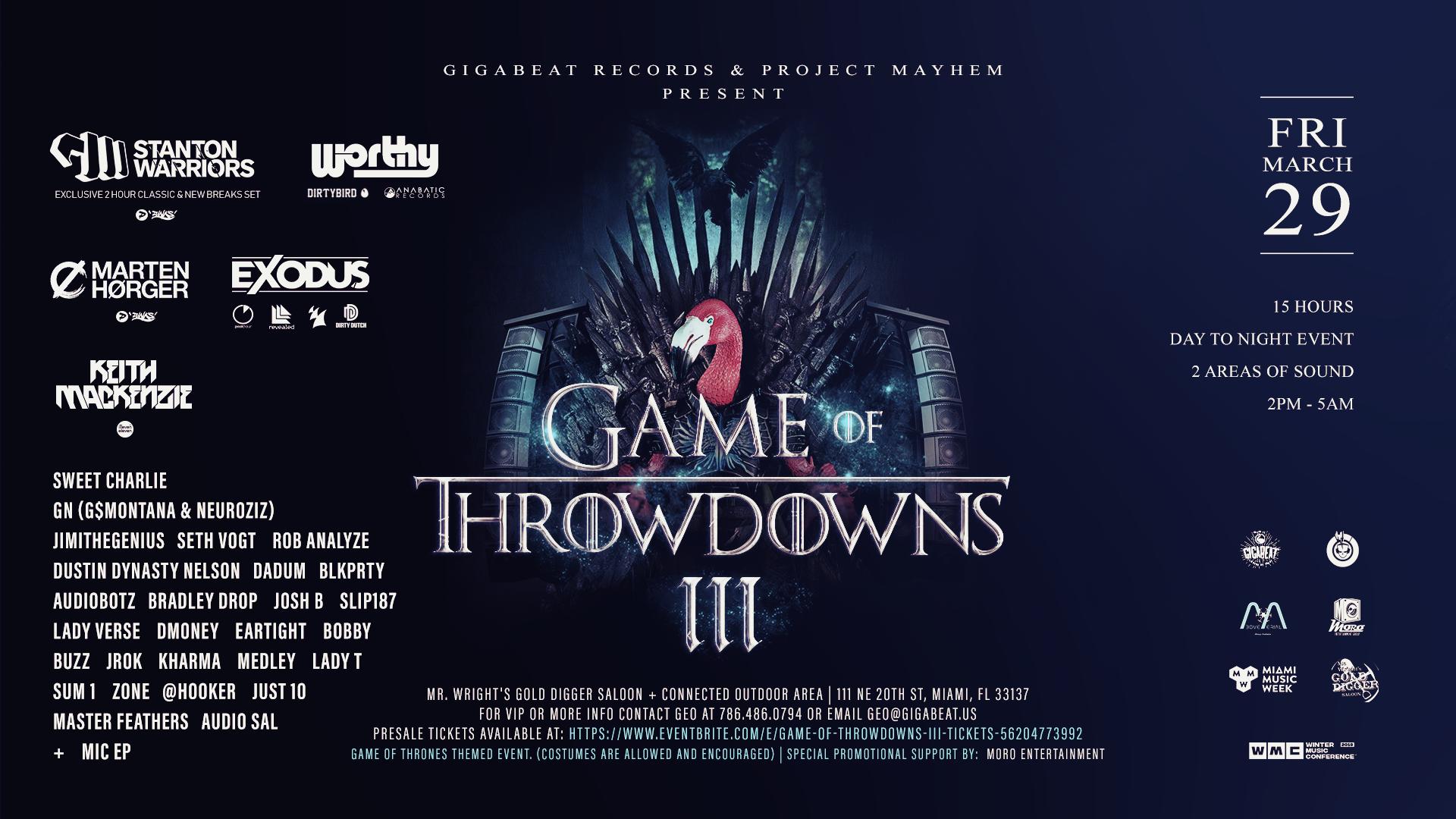 Game Of Throwdowns III Image