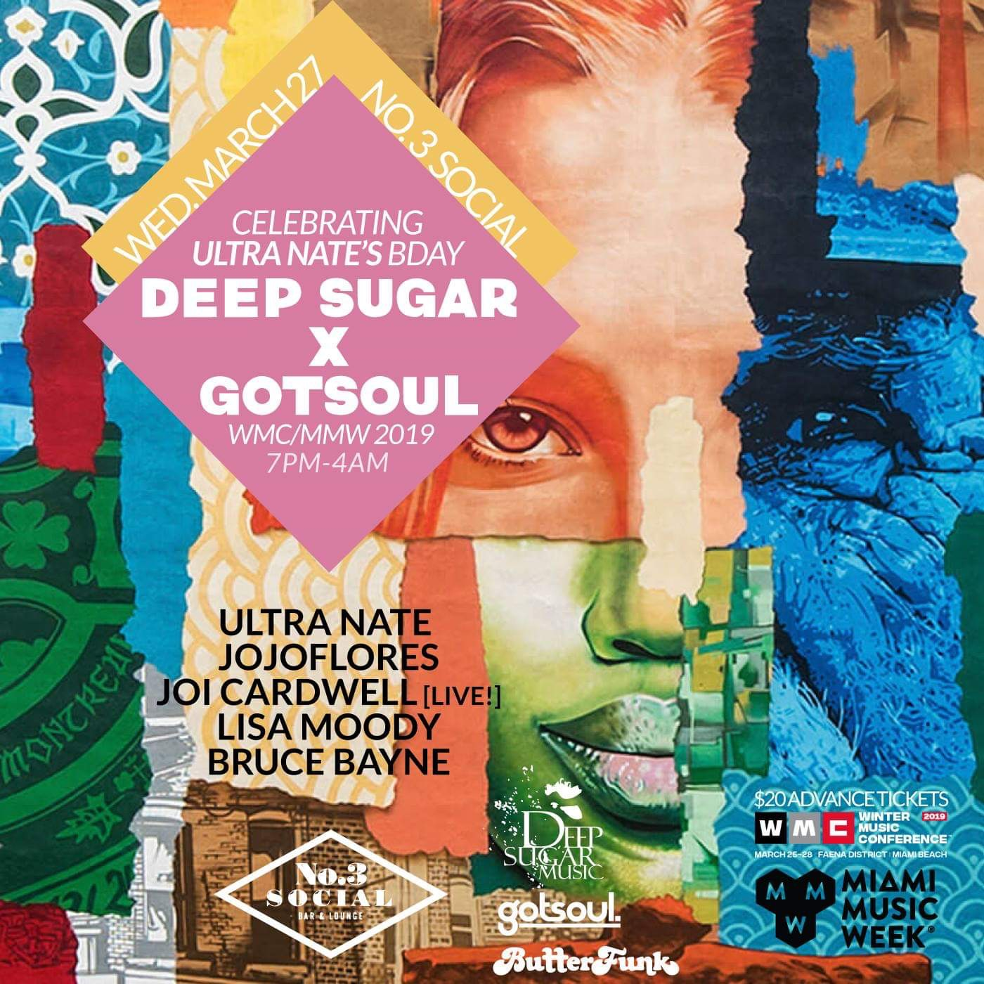 Deep Sugar & gotsoul - Ultra Nate's BdayBash Flyer