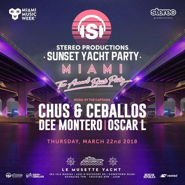 Stereo Productions Sunset Yacht Party w/ Chus & Ceballos & Friends Image