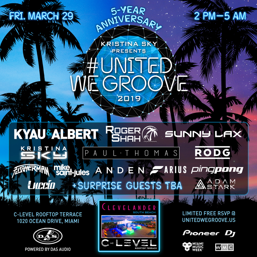 Kristina Sky presents United We Groove 2019 Image