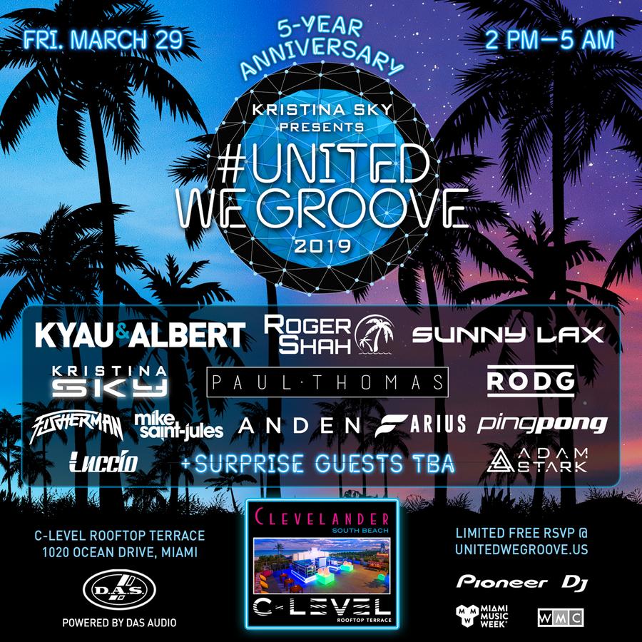 Kristina Sky presents United We Groove 2019 Image