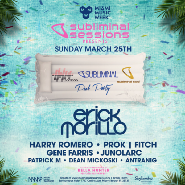 Subliminal Sessions Pool Party with Erick Morillo Image