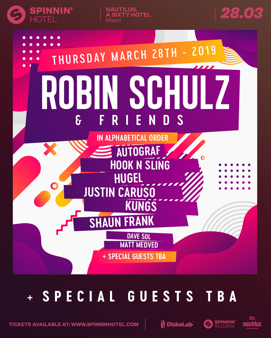 Robin Schulz & Friends at Spinnin' Hotel Image