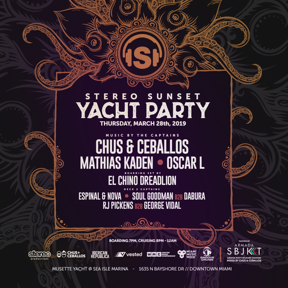 Stereo Productions MMW 2019 Sunset Yacht Party w/ Chus & Ceballos and Friends Image
