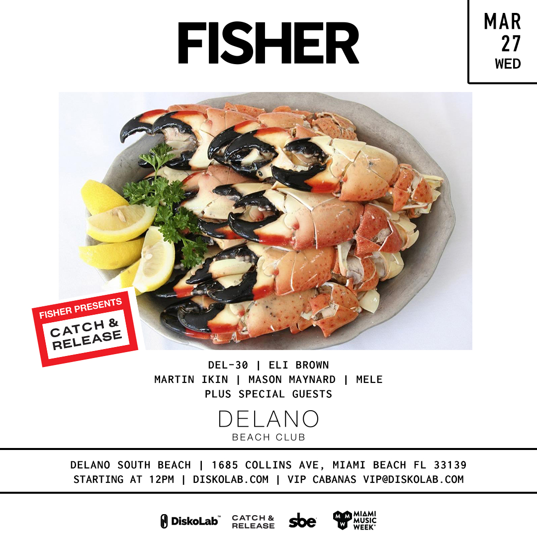 Fisher presents Catch & Release Pool Party Image