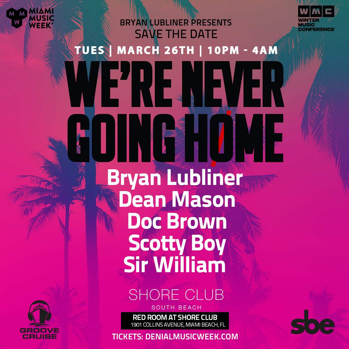 We're Never Going Home Flyer