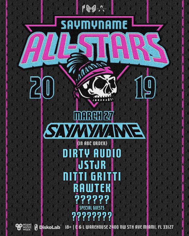 Saymyname All-Stars Miami Music Week Image
