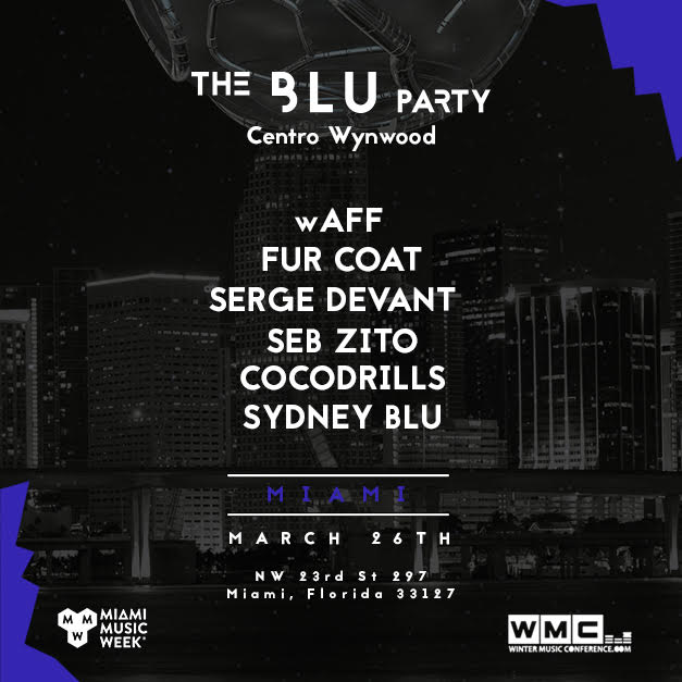 The Blu Party Wynwood Flyer