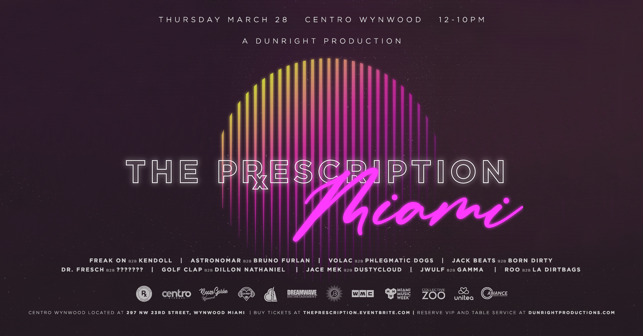 The Prescription Records Official Label Showcase Flyer