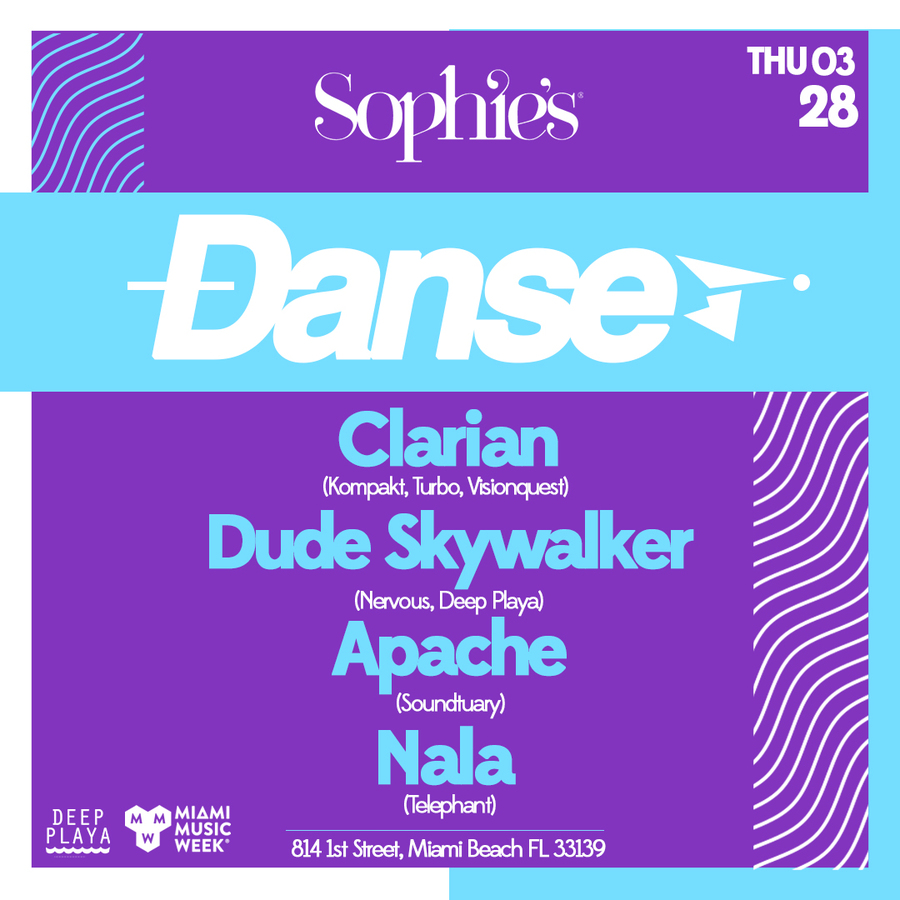 DANSE at Sophie's // Clarian, Dude Skywalker, Apache, Nala Image