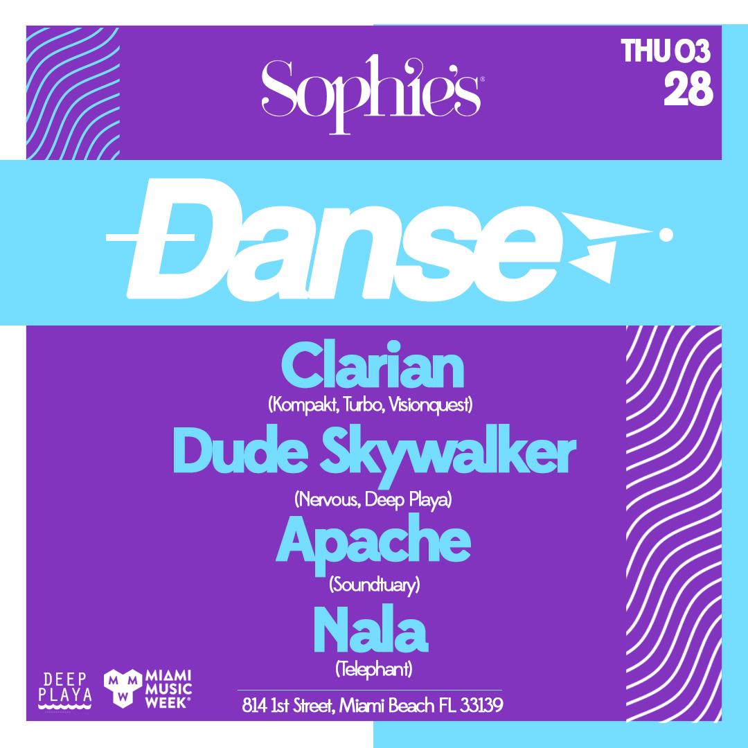 DANSE at Sophie's // Clarian, Dude Skywalker, Apache, Nala Image