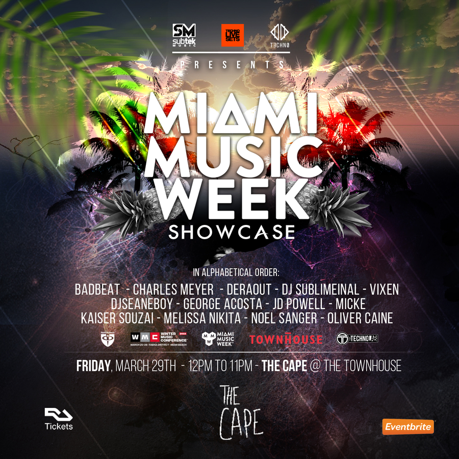 Techno Live Sets, Subtek Music Presents: Miami Music Week Showcase Image