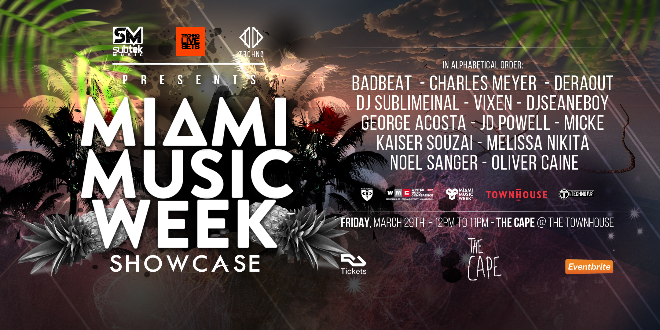 Techno Live Sets, Subtek Music Presents: Miami Music Week Showcase Image