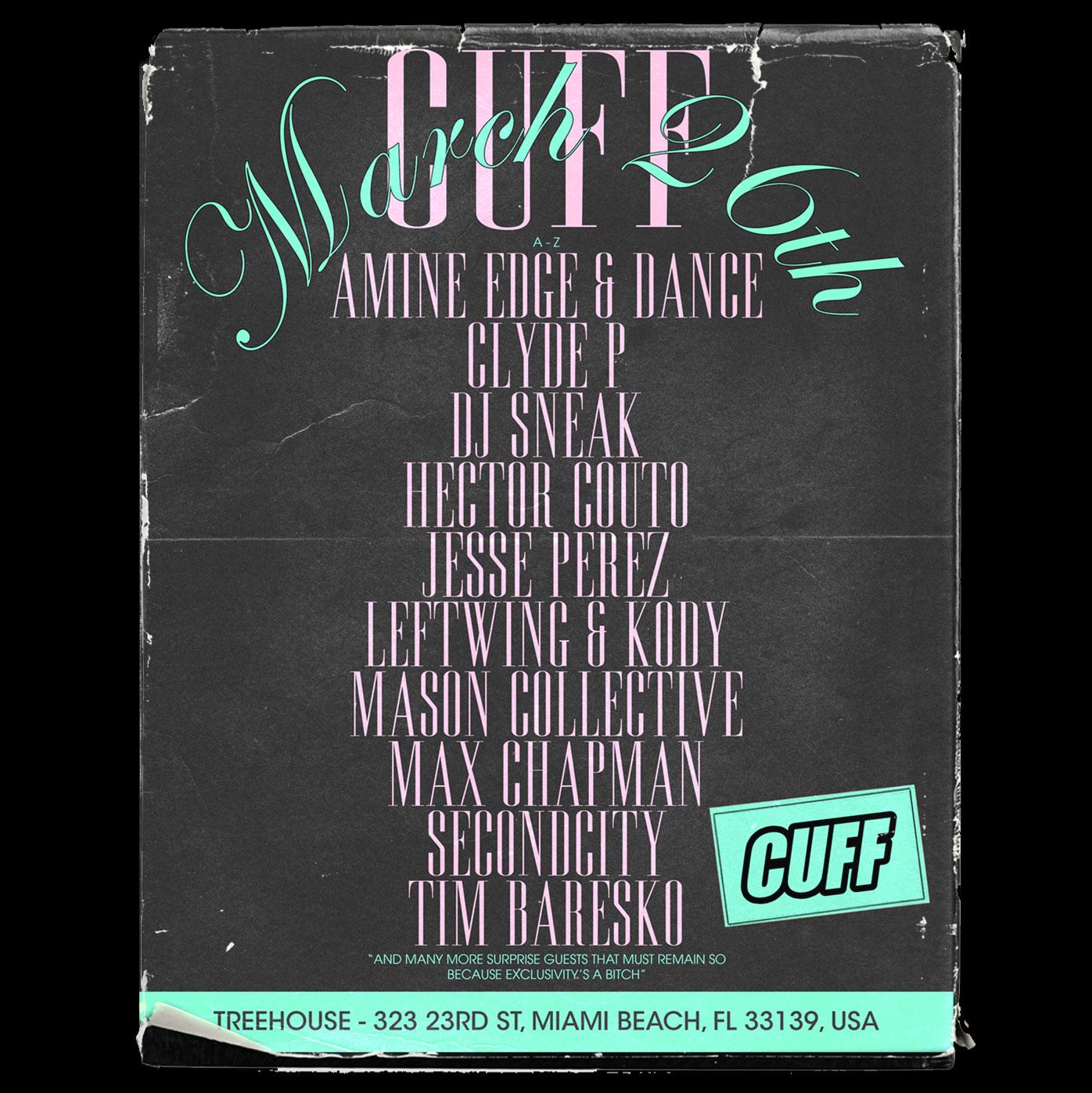 Amine Edge & Dance Presents CUFF  Image
