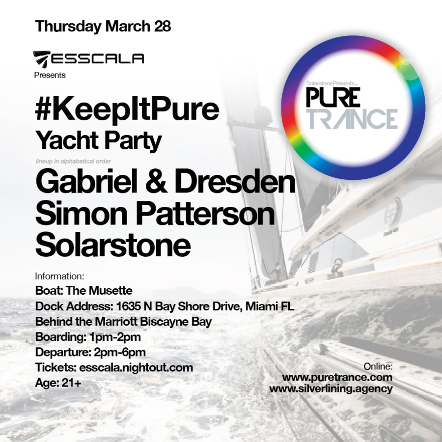 Solarstone Presents Pure Trance Miami Yacht Party Image