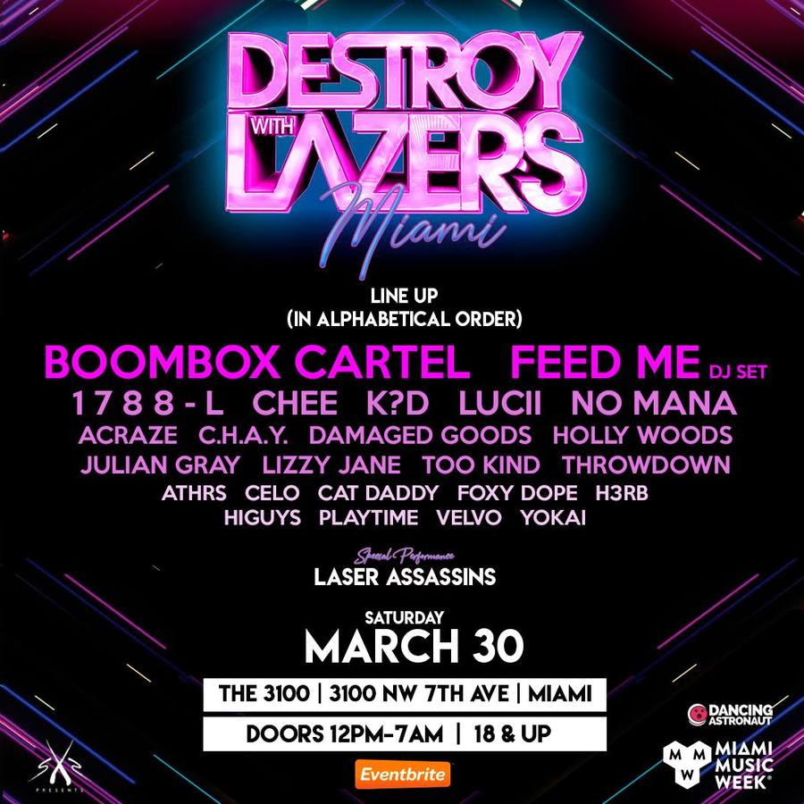 Destroy With Lazers ft. Boombox Cartel, Feed Me, 1788L and more  Image