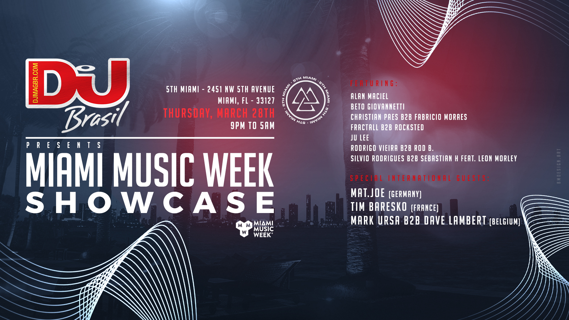 DJ Mag Brasil | Miami Music Week Showcase Image