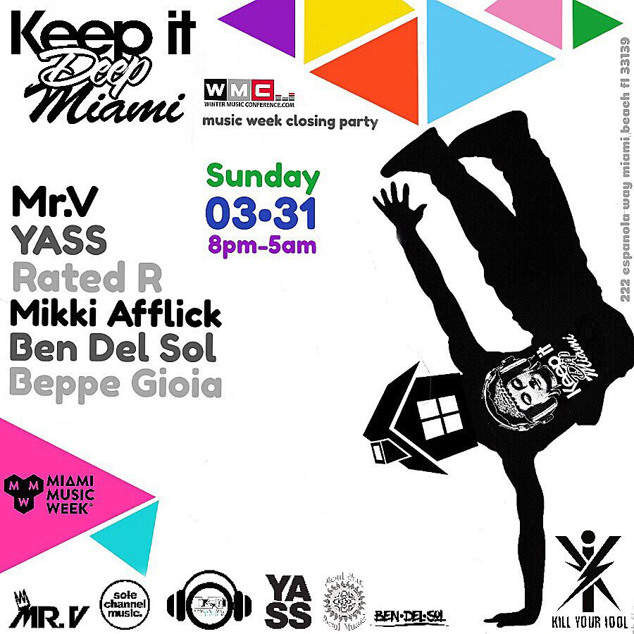 Keep It Deep Miami - Music Week Closing Party Image