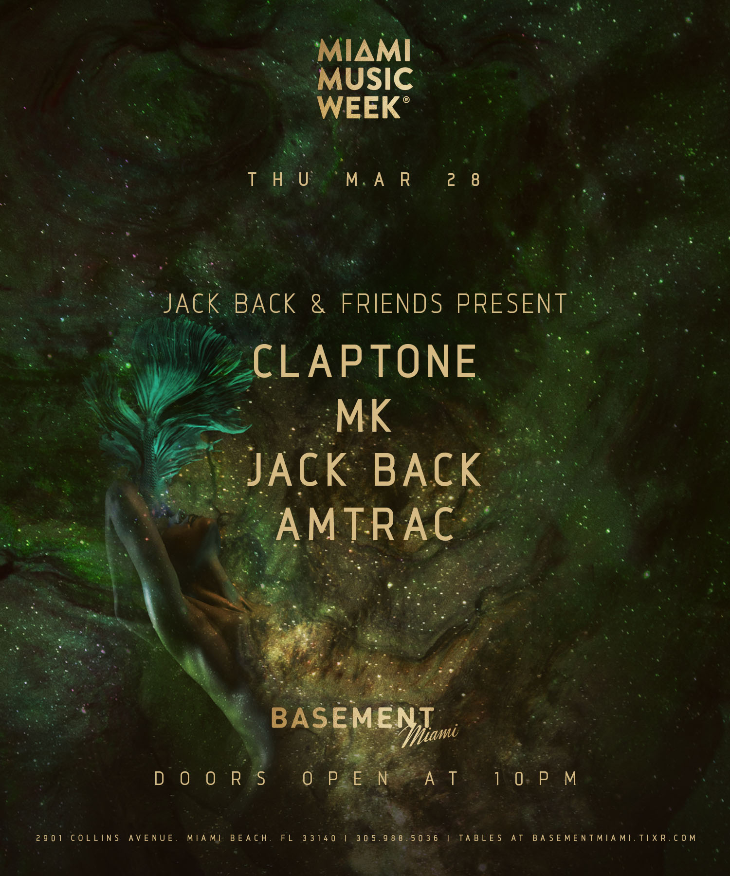 Jack Back & Friends Present: Claptone, MK, Jack Back & Amtrac Image