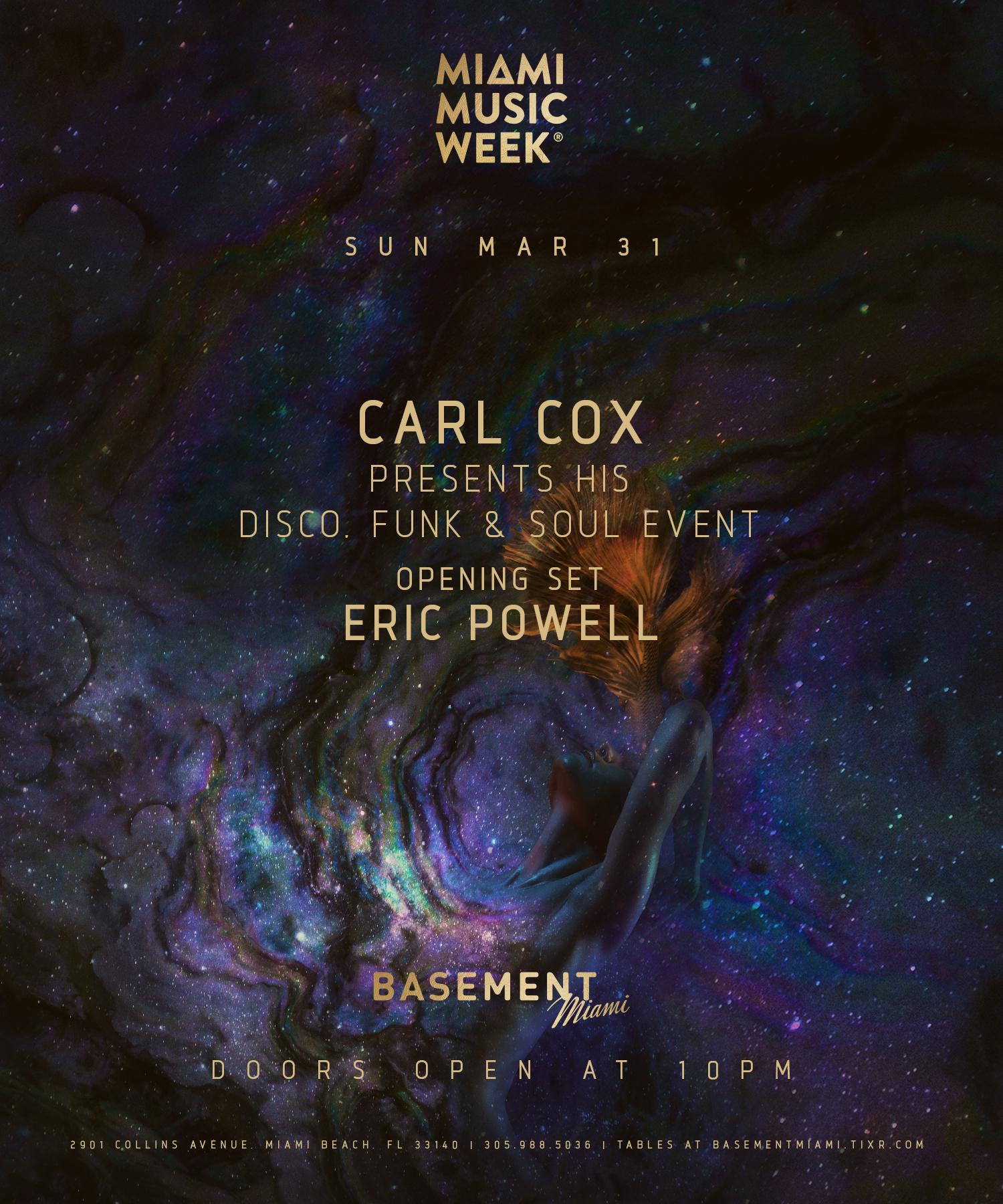 Carl Cox Presents His Disco, Funk & Soul Event Image