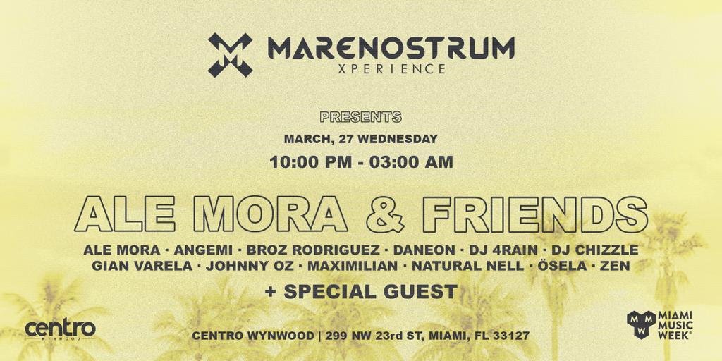Marenostrum Xperience presents: Ale Mora & Friends Image