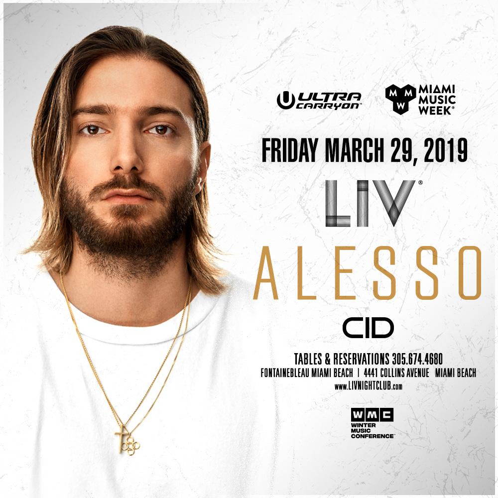 Alesso LIV - Miami Music Week - Fri. March 29th Image