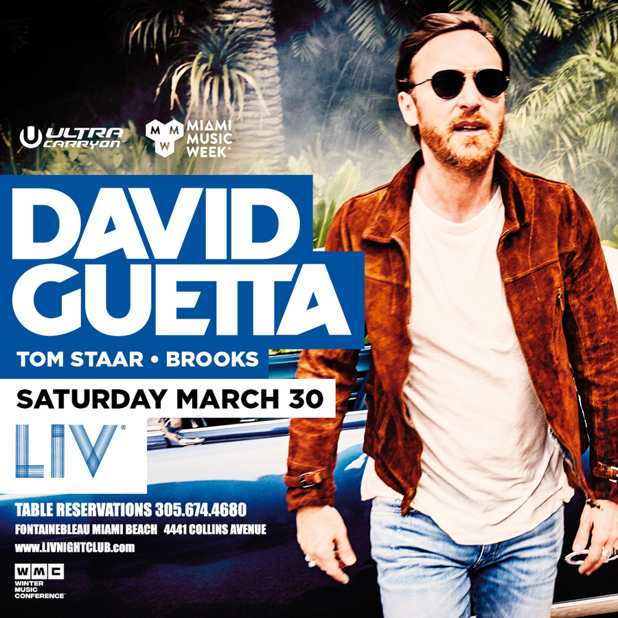 David Guetta LIV - Miami Music Week - Sat. March 30th Image